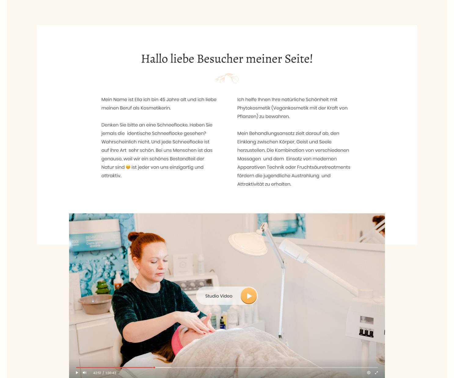 Сайт косметического салона